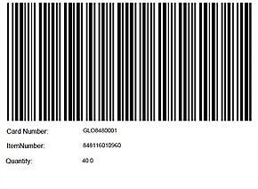 Bar Codes for Each item