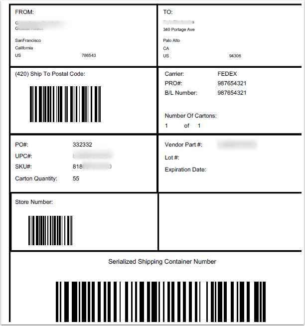 How To Print Ucc 128 Shipping Labels Tpsynergy